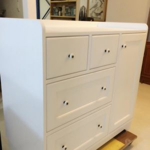 Country Style Changing Table - Side View