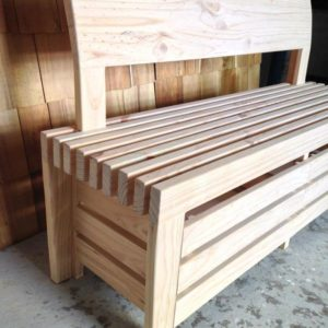 Custom Solid Pine Bench