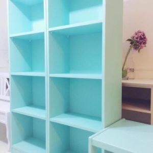 Kids Twin Turquoise Bookshelves