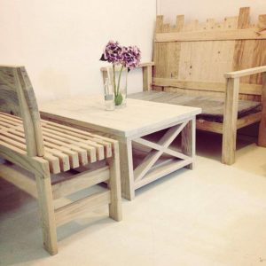 Bench and Coffee Table Set
