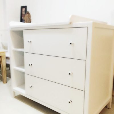 Custom Changing Table with Drawers