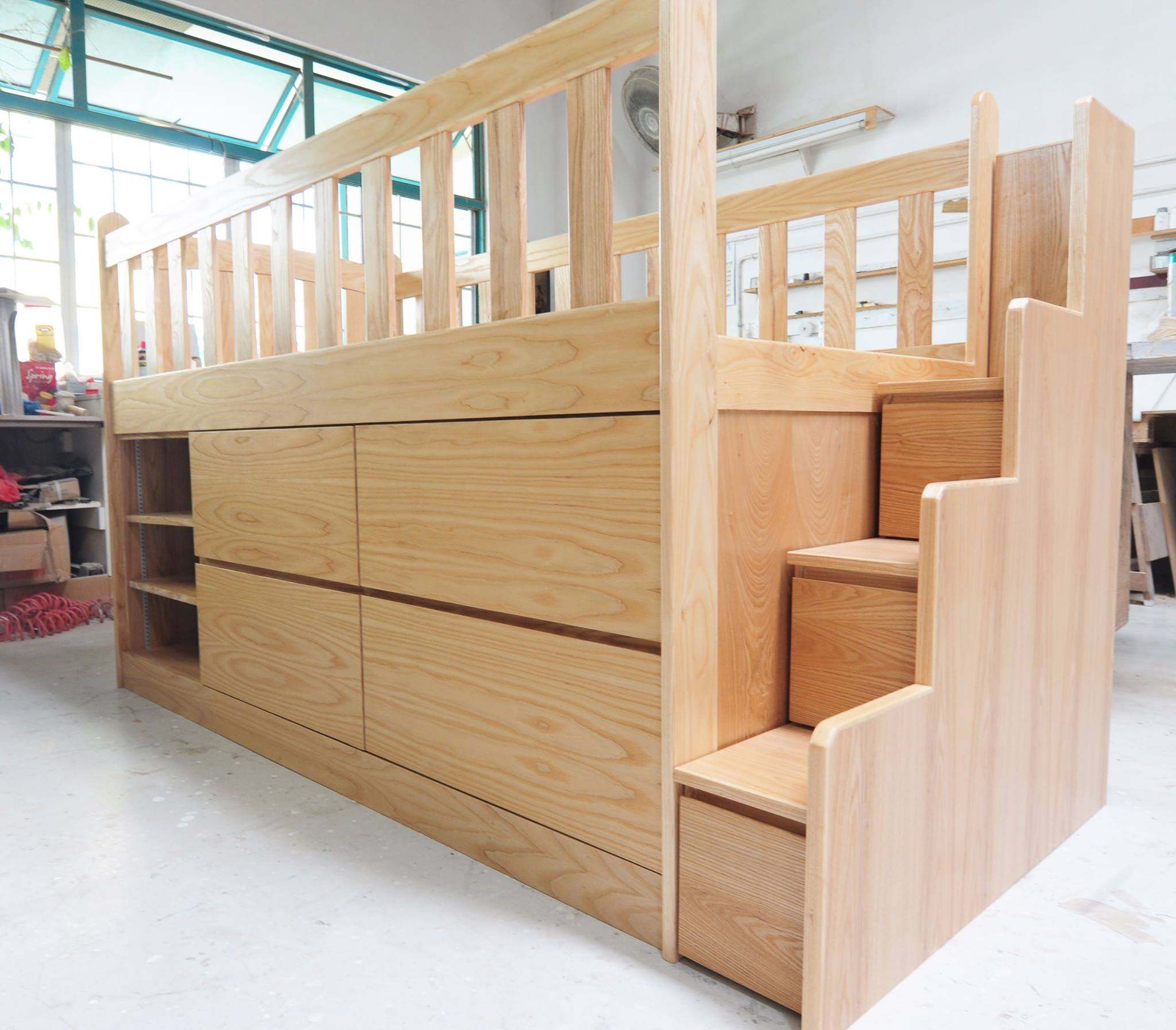 loft bed with storage custom kids furniture in singapore design