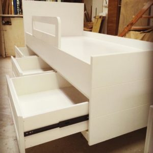 Storage Bed with Bed Rails