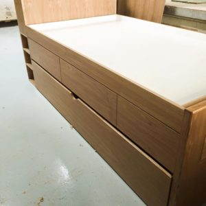 Ash Trundle with Storage - Closed