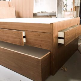 Ash Trundle Bed with Storage