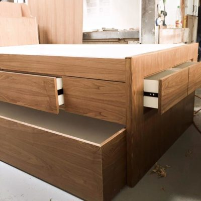 Ash Trundle with Storage - Trundle Open