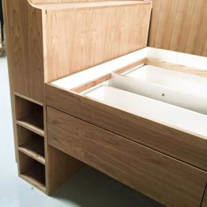Ash Trundle with Storage - Headboard Storage