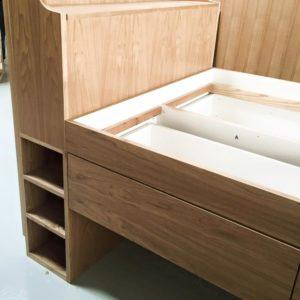 Ash Trundle with Storage - Headboard Storage