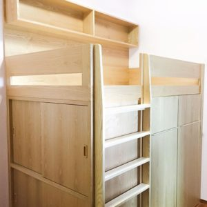Loft Bed with Wardrobe