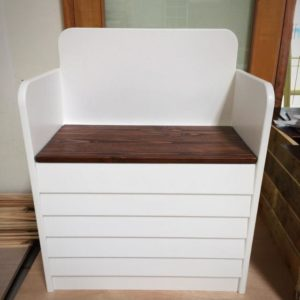 Kids Toy Box and Seater - Closed