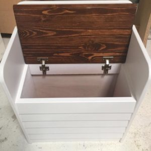 Kids Toy Box and Seater - Open