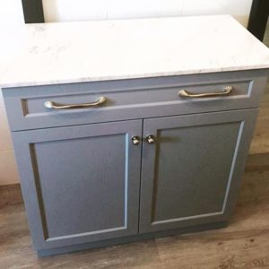 Storage Cabinet with Marble Top