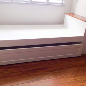Trundle with Storage Headboard