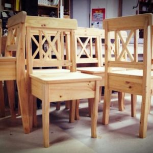 Solid Wood Pine Chairs