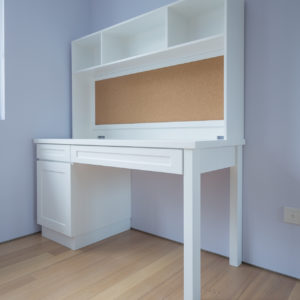 Study Table with Built-in Corkboard