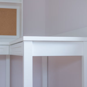 Study Table with Built-in Corkboard - Close Up