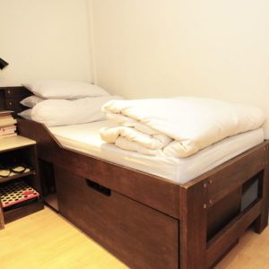 High Bed with Box Storage