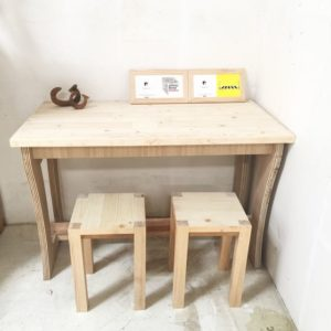Raw Solid Pine Table Top Set