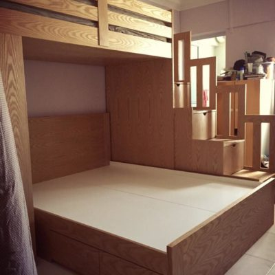 Co-Sleeping Bunk Bed with Mix Sizes