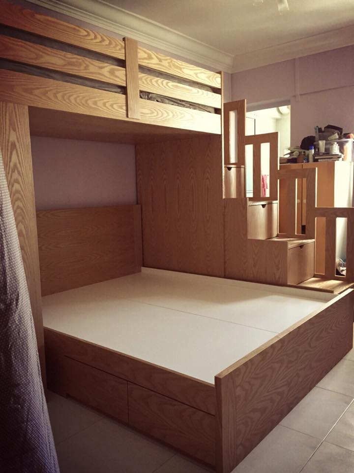Co Sleeping Bunk Bed Custom Kids Furniture In Singapore
