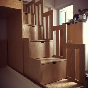 Mixed Size Bunk Bed - Drawer Steps
