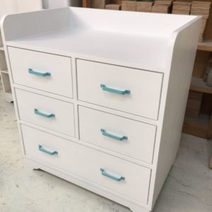 Aqua Changing Table - Angle View