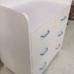 Aqua Changing Table - Side View