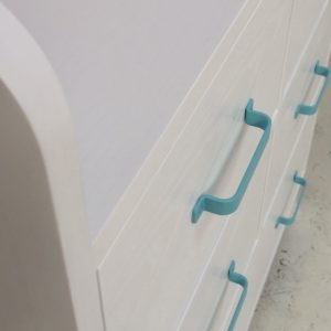 Aqua Changing Table - Close Up View