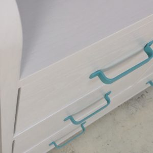 Aqua Changing Table - Top View