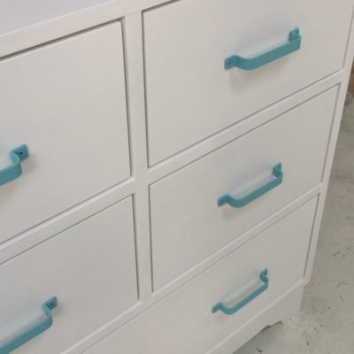 Aqua Changing Table - Close Up