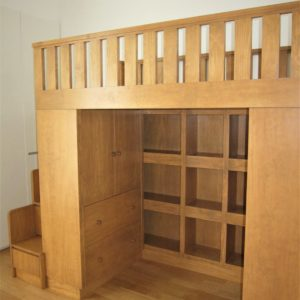 Loft Bed with Cubby Storage - Inner View
