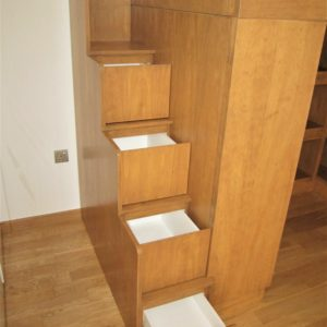 Loft Bed with Cubby Storage - Storage Staircase