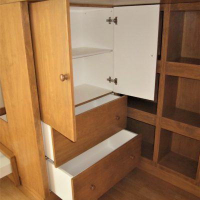 Loft Bed with Cubby Storage - Built in Wardrobe
