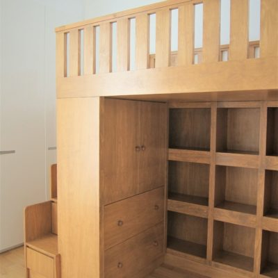 Loft Bed with Cubby Storage - Close Up