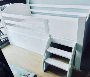 Mini Loft Bed - Ladder View