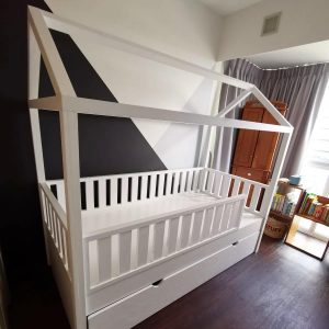 Montessori Bed with Fences and Trundle